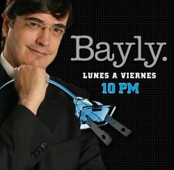 Fran Fialli en el show de Bayly